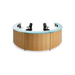 Informa curve modules 45° | Reception desks | actiu