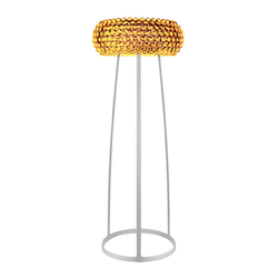 Caboche floor large yellow-gold | Luminaires sur pied | Foscarini