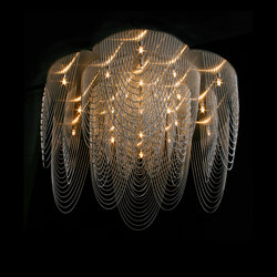 Rose - 700 - ceiling mounted - looped | Chandeliers | Willowlamp
