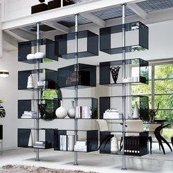 hochwertige regalsysteme verspannt boden decke auf architonic. Black Bedroom Furniture Sets. Home Design Ideas