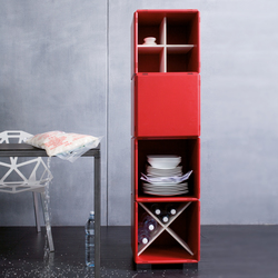 q18_kitchen_high red | Shelving systems | qubing.de