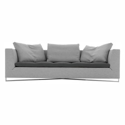 Feng | Large Settee Brilliant Chromed Base Complete Item | Sofas | Ligne Roset