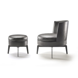 Feel Good swivel armchair/ottoman | Sillones lounge | Flexform