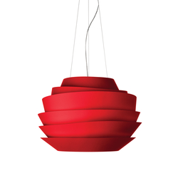 Le Soleil suspension red | General lighting | Foscarini