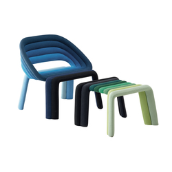Nuance Armchair with footstool | Lounge chairs | CASAMANIA-HORM.IT
