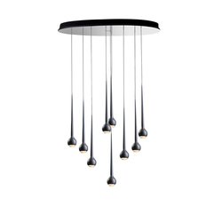 FALLING WATER 9 BLACK | Suspended lights | Tobias Grau