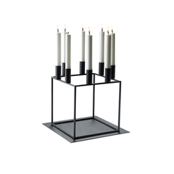 Base for Kubus 8 Black | Candlesticks / Candleholder | by Lassen