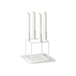 Base for Kubus 4 White | Candlesticks / Candleholder | by Lassen