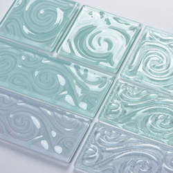 Squiggle Design Glass Tiles | Glass wall tiles | UltraGlas