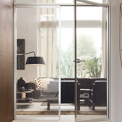 Quadra corridor | Glass room doors | Albed