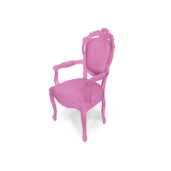 Plastic Fantastic dining chair armchair pink | Garden chairs | JSPR