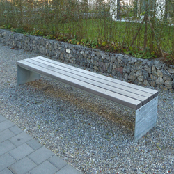 Picknick bench without backrest | Exterior benches | BURRI