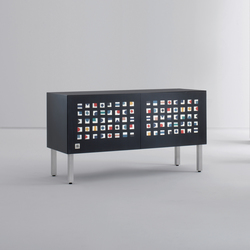 Intarsia | Sideboard Quadratini Magici | Sideboards | Laurameroni