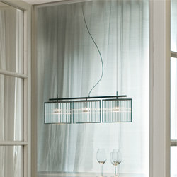 Stilio 3 Stainless steel brushed | Suspended lights | Licht im Raum