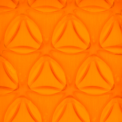 Clear-PEP® UV PC color orange | Synthetic slabs | Design Composite