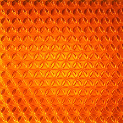 clear-PEP® UV PC color orange | Synthetic panels | Design Composite