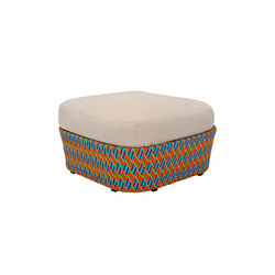 Kente outdoor pouf | Poufs | Varaschin