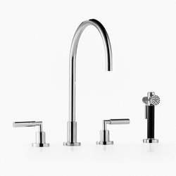 Tara. - Three-hole mixer with rinsing spray set | Kitchen taps | Dornbracht
