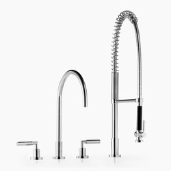 Tara. - Three-hole mixer with profi spray set | Kitchen taps | Dornbracht