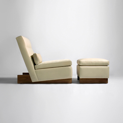Trax Chair without Arms & Ottoman | Poltrone lounge | Phase Design