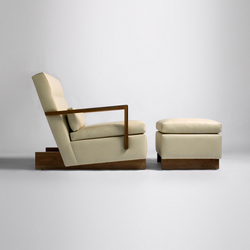 Trax Chair with Arms & Ottoman | Poltrone lounge | Phase Design