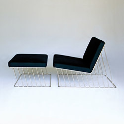 Wired Italic Lounge Chair & Ottoman | Loungesessel | Phase Design