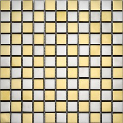 Metallo G0103 Chrome & Gold I | Mosaïques verre | Giorbello