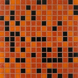 Tesserae Blends G2708 Midnight Fire | Mosaïques en verre | Giorbello