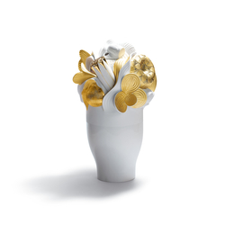 Naturofantastic - Large vase (golden) | Vases | Lladró