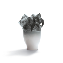 Naturofantastic - Jarrón pequeño (gris) | Vases | Lladró