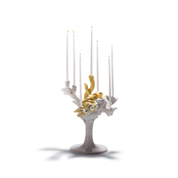 Naturofantastic - Multi candleholder (golden) | Bougeoirs | Lladró