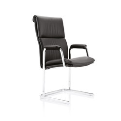 Delphi High Back, with paded arms Visitor Chair | Chairs | Boss Design