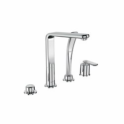 Veris Four-hole single-lever bath combination | Robinetterie pour baignoire | GROHE