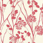 Moonpennies Raspberry wallcovering | Carta da parati / carta da parati | F. Schumacher & Co.