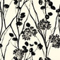 Moonpennies Black and Ivory wallcovering | Carta da parati / carta da parati | F. Schumacher & Co.