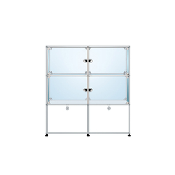USM Haller Glass showcase 2 | Display cabinets | USM