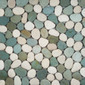 Pebbles RD-213 White Green | Mosaicos de piedra natural | Get Stoned
