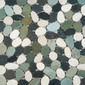 Pebbles RD-214 W, G, B Mix | Natural stone mosaics | Get Stoned