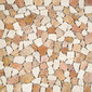 Tumbled Stone RD-206 Red White | Natural stone mosaics | Get Stoned