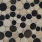 Round Dia M Biancone Silva | Natural stone mosaics | Mosaic Miro Production