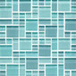 Random Pattern Clear Mixed Huron | Mosaici vetro | Original Style Limited