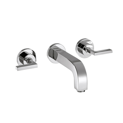 AXOR Citterio 3-Hole Basin Mixer for concealed installation with lever handles escutcheons and spout 162mm DN15 wall mounting | Wash-basin taps | AXOR