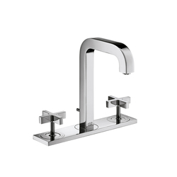 AXOR Citterio 3-Hole Basin Mixer with cross handles plate and spout 140mm DN15 | Wash-basin taps | AXOR