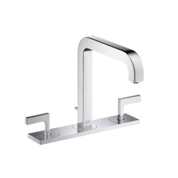 AXOR Citterio 3-Hole Basin Mixer with lever handles plate and spout 140mm DN15 | Wash basin taps | AXOR