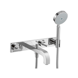AXOR Citterio 3-Hole Bath Mixer with lever handles and plate DN15 | Bath taps | AXOR