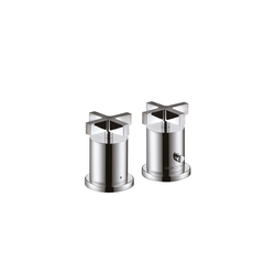AXOR Citterio 2-Hole Thermostatic Rim-Mounted Bath Mixer with cross handles DN15 | Bath taps | AXOR