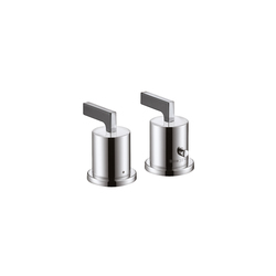 AXOR Citterio 2-Hole Thermostatic Rim-Mounted Bath Mixer with lever handles DN15 | Bath taps | AXOR