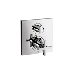 AXOR Citterio Thermostatic Mixer for concealed installation with shut-off valve and cross handle | Shower controls | AXOR
