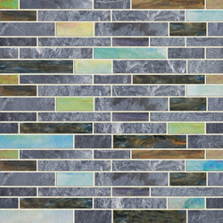 Earth & Art Glass/Stone Mosaic SGL001 | Mosaici vetro | Hirsch Glass