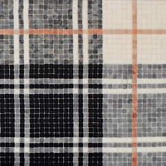 Balmoral Plaid Tulip Black | Mosaïques en pierre naturelle | AKDO